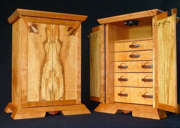 Jewelry Box Cabinet Spalted Maple
