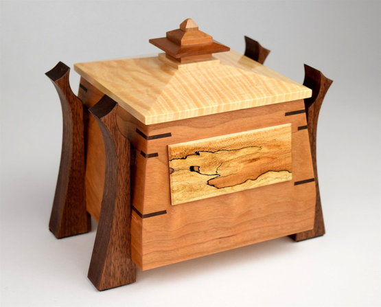 Asian design wood box